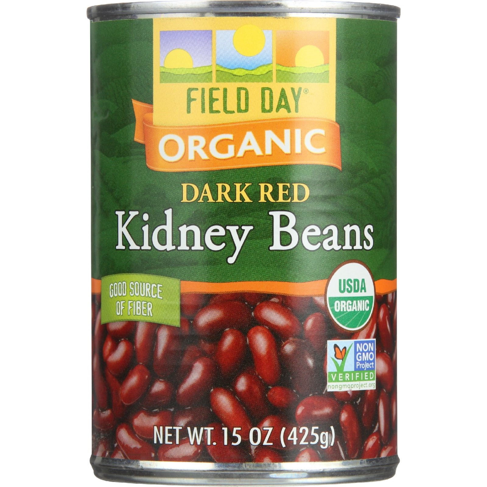 Field Day Organic Kidney Beans, 15 Oz (Case of 12)