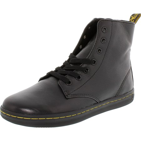 Dr. Martens Women's Leyton Black Ankle-High Leather Boot - 8M](doc martens classic black)