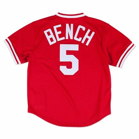 Johnny Bench Cincinnati Reds MLB Mitchell & Ness Men's Red 1983 Authentic Throwback Batting Practice Jersey