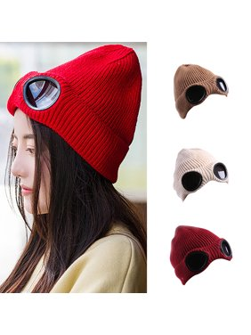 48b21422e65 Product Image Obstce (Asian Size)Novelty Dual Use Hats Female Glasses Winter  Beanie Warm Hat Knitted