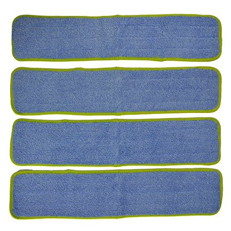 Pad Refill Pack (Eurow Commercial Microfiber Wet Mop Pad Refill 24 In Green 4)