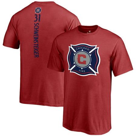 Chicago Fire Tshirts (Bastian Schweinsteiger Chicago Fire Fanatics Branded Youth MLS Backer T-Shirt -)