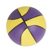 "9"" Bouncy Indoor/Outdoor Sports Kids Mini Basketball Toy-Purple&Yellow"