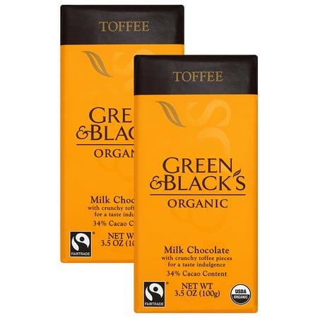Milk Toffee - (4 Pack) Green Black Milk Chocolate Toffee 34% Cocoa 3.5 Oz