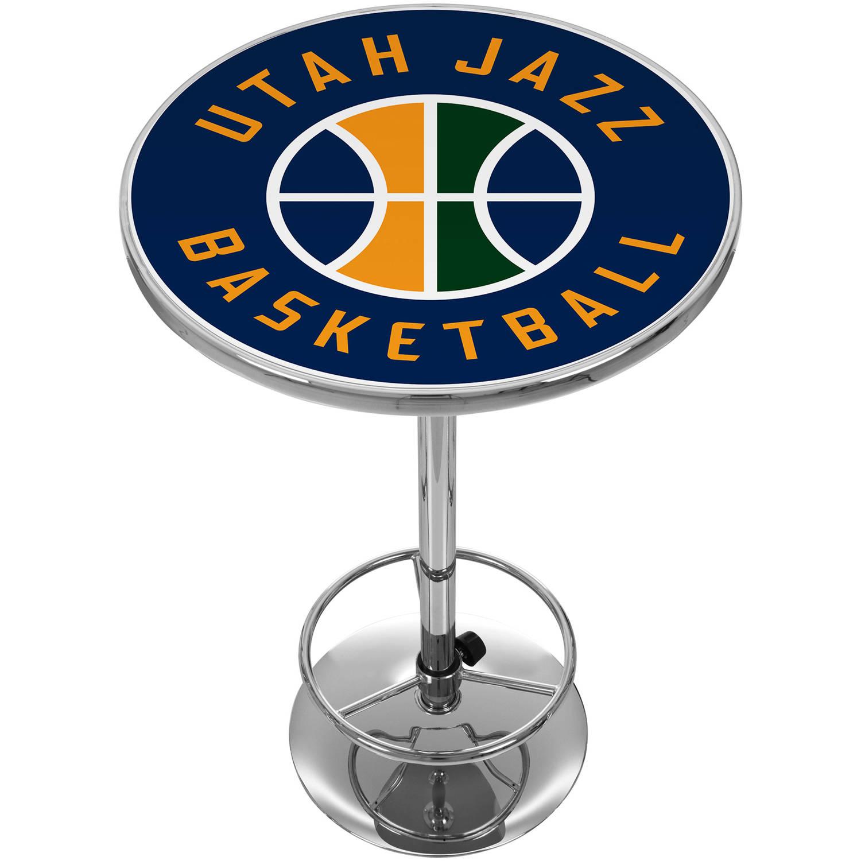 "Trademark NBA Utah Jazz 42"" Pub Table, Chrome"