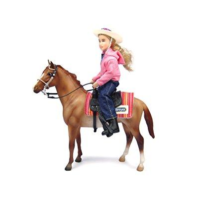 Breyer western horse and rider - horse and doll set