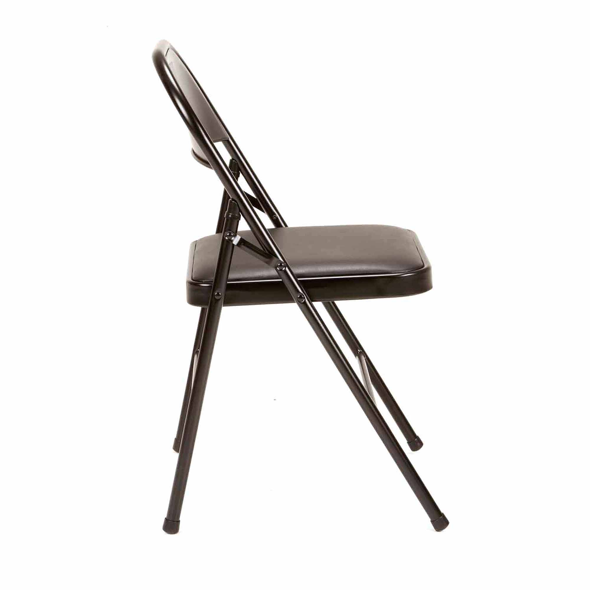 Mainstays Vinyl Chair, Set of 4, Black