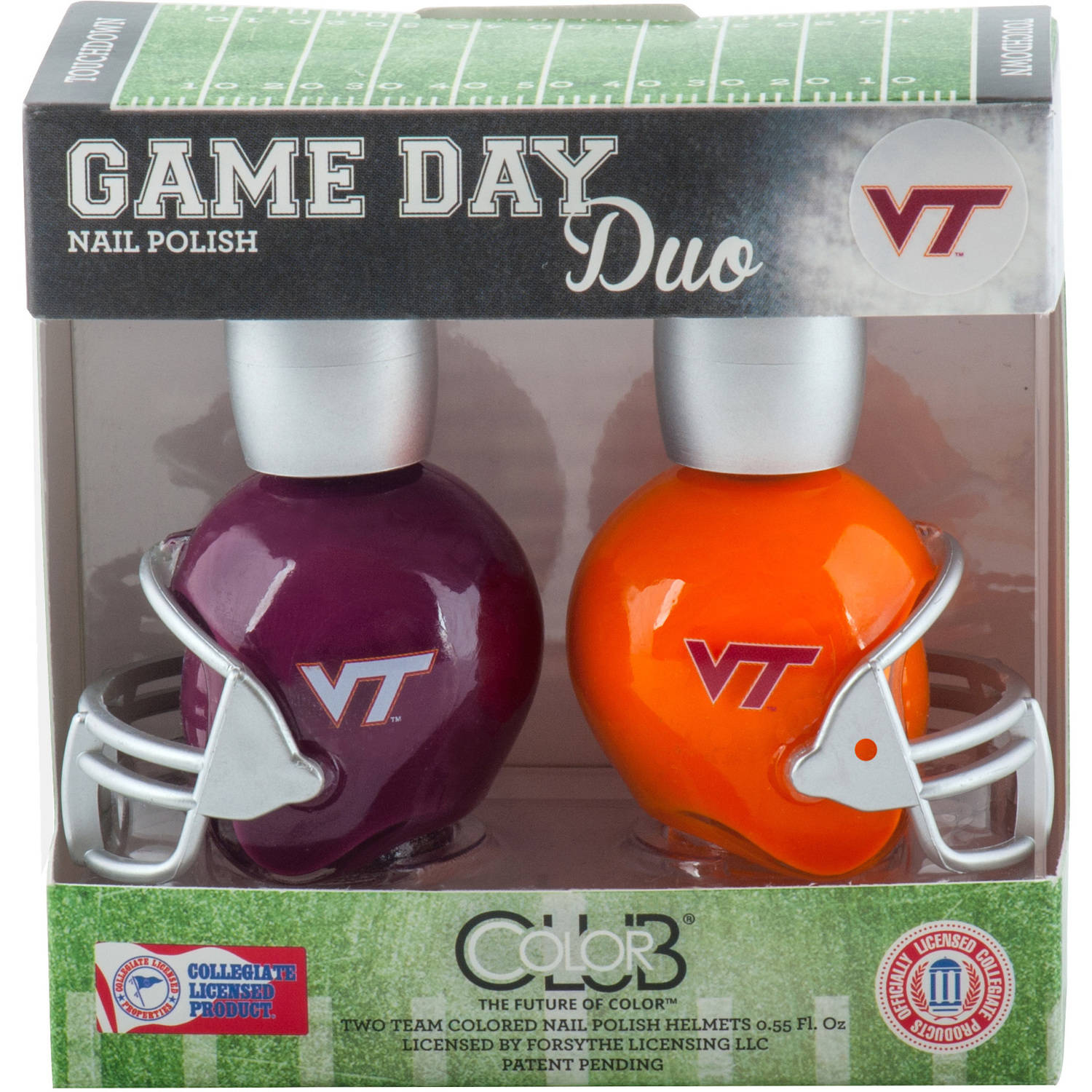 Color Club Polish Game Day Duo Pack Nail Lacquer, Virginia Tech, 0.55 fl oz