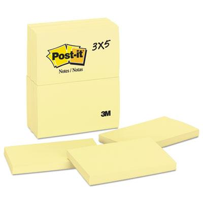 Post-it Notes Original Pads in Canary Yellow