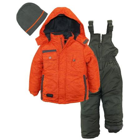 ixtreme toddler boys colorblock heavy snowsuit winter ski jacket snow bib bonus