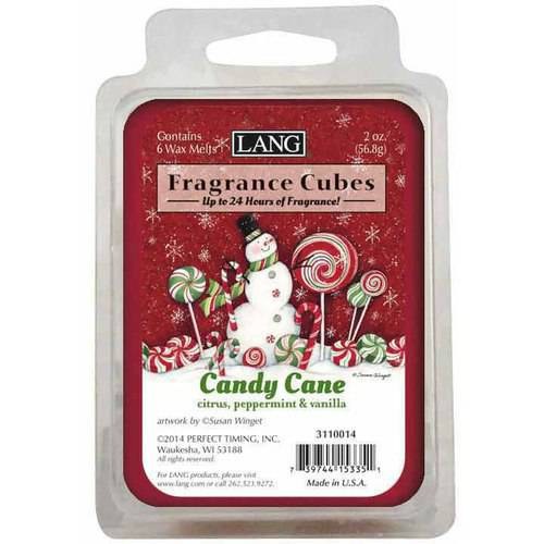 LANG Candy Cane 2-Ounce Fragrance Cubes Scented with Citrus, Peppermint and Vanilla