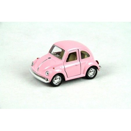 "4"" Kinsmart 1967 Volkswagen Beetle Diecast Model Toy Car No Scale Pastel Pink"