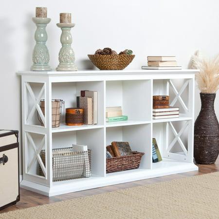 Belham Living Hampton TV Stand Bookcase - White ()