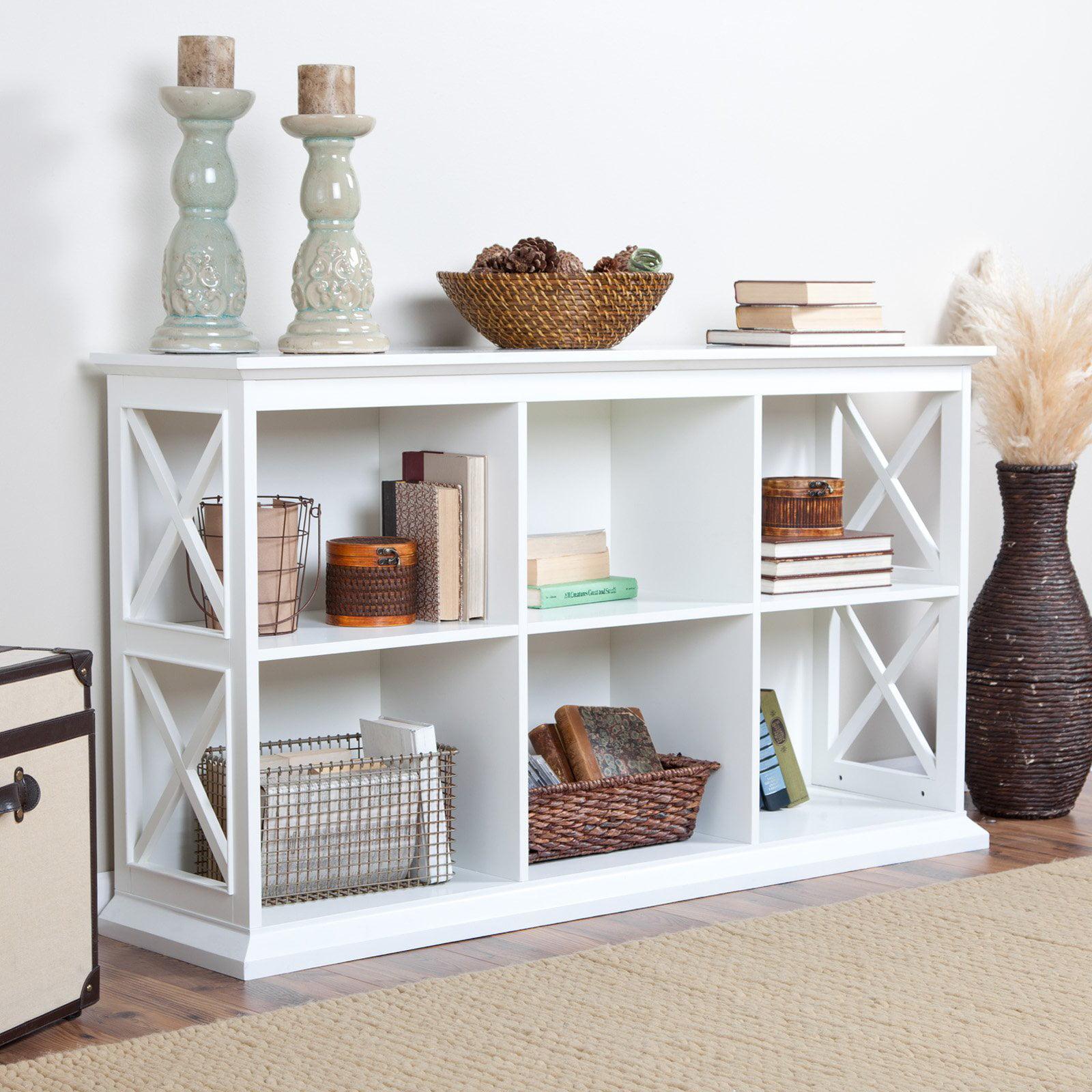 Belham Living Hampton Tv Stand Bookcase White Walmart Com