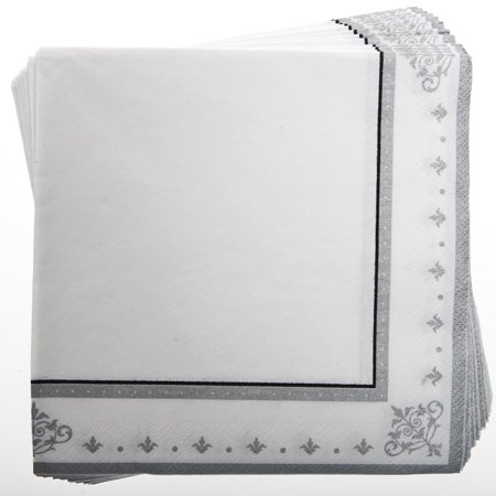 Silver Anniversary Lunch Napkins ()
