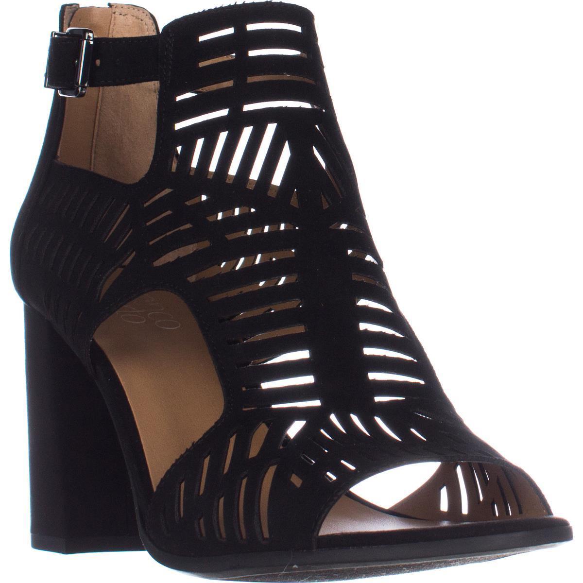 Womens Franco Sarto Margie Block Heel Sandals, Black image