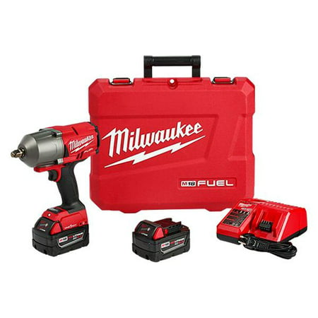 Milwaukee 2863-22 - M18 Fuel 1/2u0022 Hog Ring Anvil 18V 5.0Ah Li-Ion Cordless Impact Wrench Kit