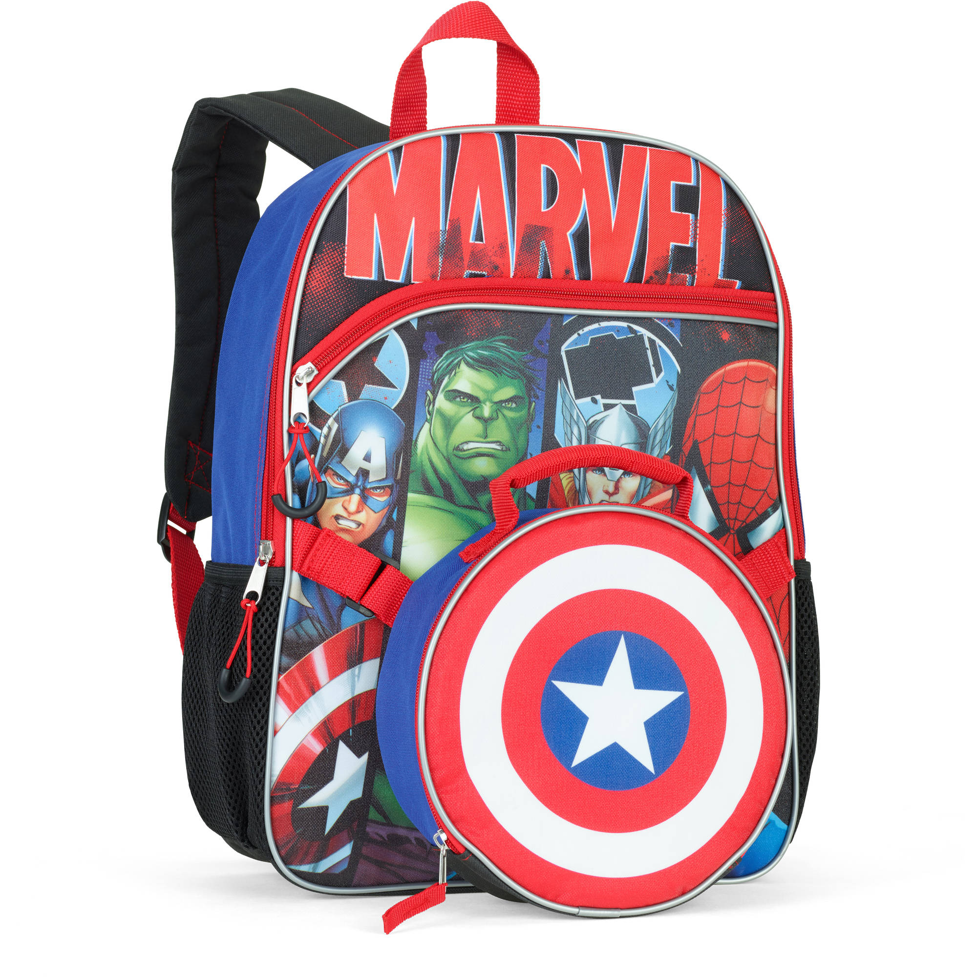 "Marvel Universe 16"" Backpack With Detachable Lunch Bag"