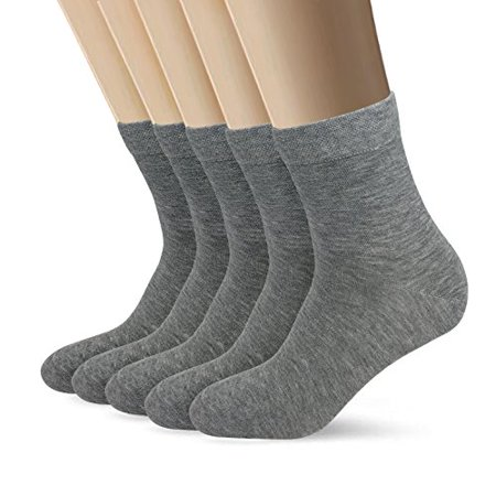 Bamboo Men sock Breathable Sock Low Quarter Thin Ankle Sock Comfort Cool soft Sock 5 Pairs (Breathable Smock)