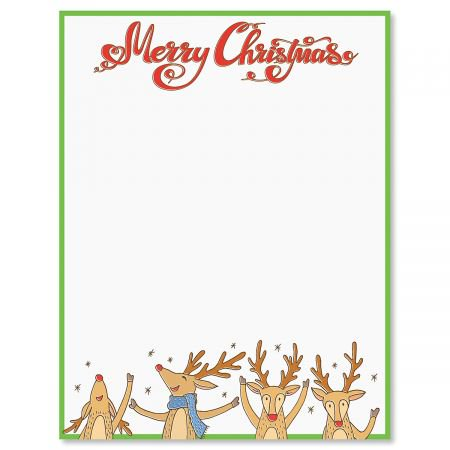 Reindeer Christmas Letter Papers - Set of 25 Christmas ...