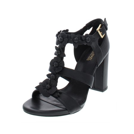 d3a6cd57c72 MICHAEL Michael Kors - MICHAEL Michael Kors Womens Tricia Leather Block  Heel T-Strap Sandals - Walmart.com