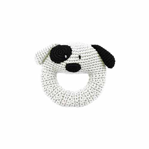 Hand Crocheted Dog Ring Rattle by Dandelion 51011 by Dandelion