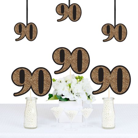 Adult 90th Birthday - Gold - Decorations DIY Party Essentials - Set of 20](90th Birthday Colors)