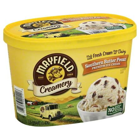 Mayfield Creamery Southern Butter Pecan Premium Ice Cream, 1.5 qt - Walmart.com