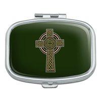 Celtic Christian Cross Irish Ireland Rectangle Pill Case Trinket Gift Box