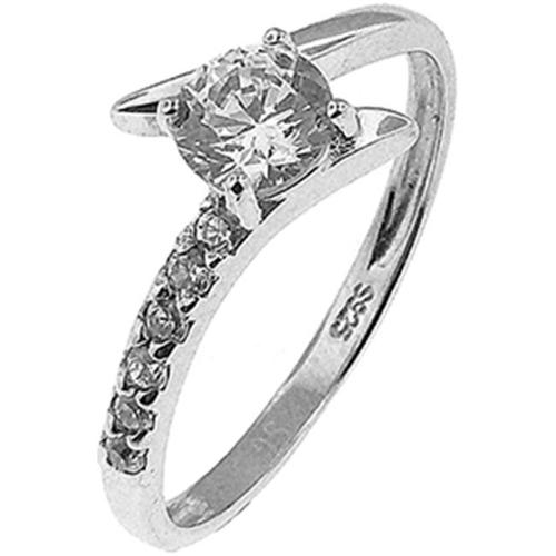 Doma Jewellery MAS02325-6 Sterling Silver Ring with CZ - Size 6