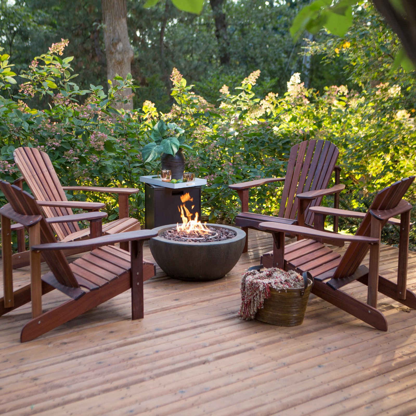 Belham Living Richmond Deluxe 5 pc. Adirondack Fire Pit Chat Set