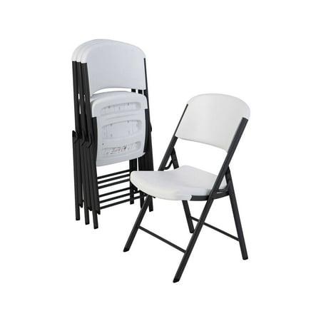 Peachy Lifetime Classic Folding Chair 4 Pack White Theyellowbook Wood Chair Design Ideas Theyellowbookinfo