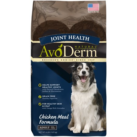 Avoderm Chicken Food - AvoDerm Joint Health Grain Free Chicken Meal Dry Dog Food 4LB