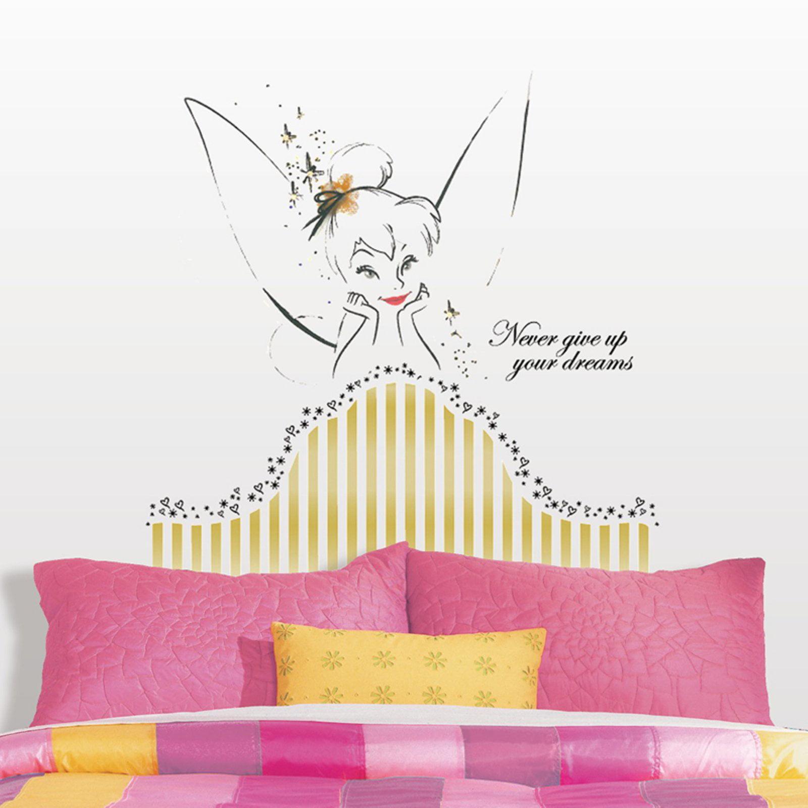 Disney Fairies Tinkerbell Headboard Peel & Stick Giant Wall Decal