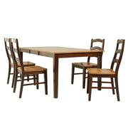 Stettler Dining Set-Finish:Espresso/Cinnamon,Quantity:5 Piece