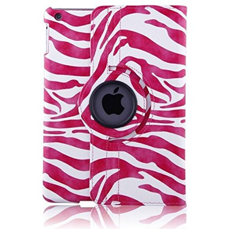 Eleoption For iPad Pro 9.7 Case - ProCase Leather 360 Degree Rotating Stand Case Cover for Apple iPad Pro 9.7 Inch Case Support Smart Cover Open /Wake, Close to Sleep Function(zebra pink)