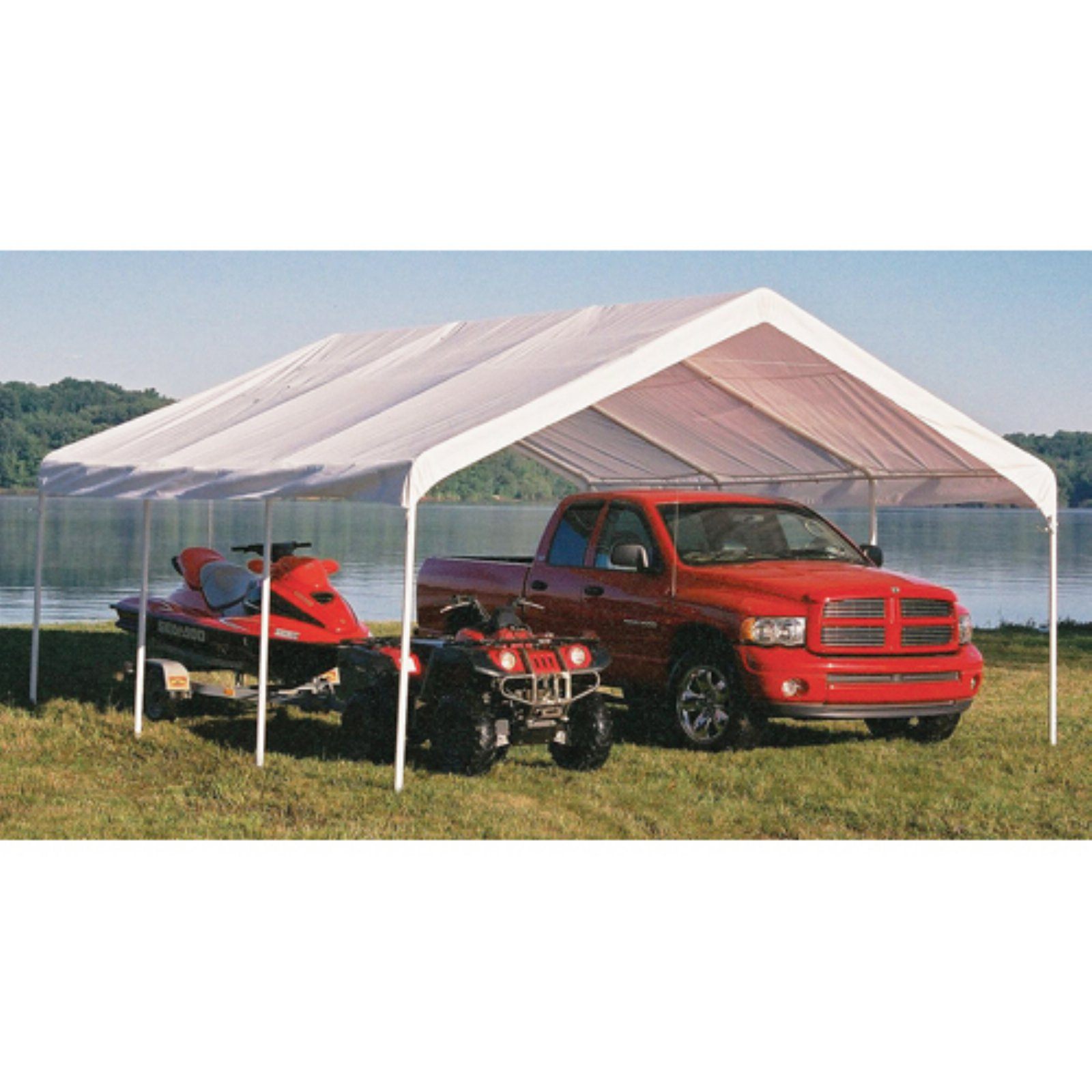 Super Max 18' x 20' White Premium Canopy by ShelterLogic