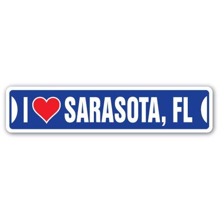 I LOVE SARASOTA, FLORIDA Street Sign fl city state us wall road décor gift](Halloween City Sarasota)