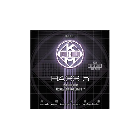 (Kerly Music 5-String Bass Guitar Strings - Heavy Nickel Plated)