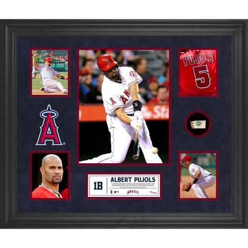 Albert Pujols Los Angeles Angels Fanatics Authentic Framed 5-Photograph Collage with Piece of Game-Used Ball - No Size