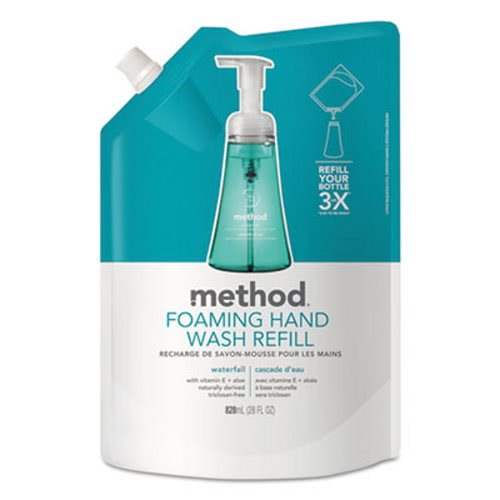 Method Foaming Hand Wash Refill, Waterfall, 28 oz Pouch, 6/Carton (MTH01366)