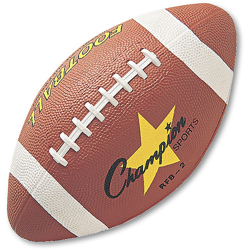 Champion Sports Rubber Sports Ball, For Football, Intermediate Size, Brown by CHAMPION SPORT