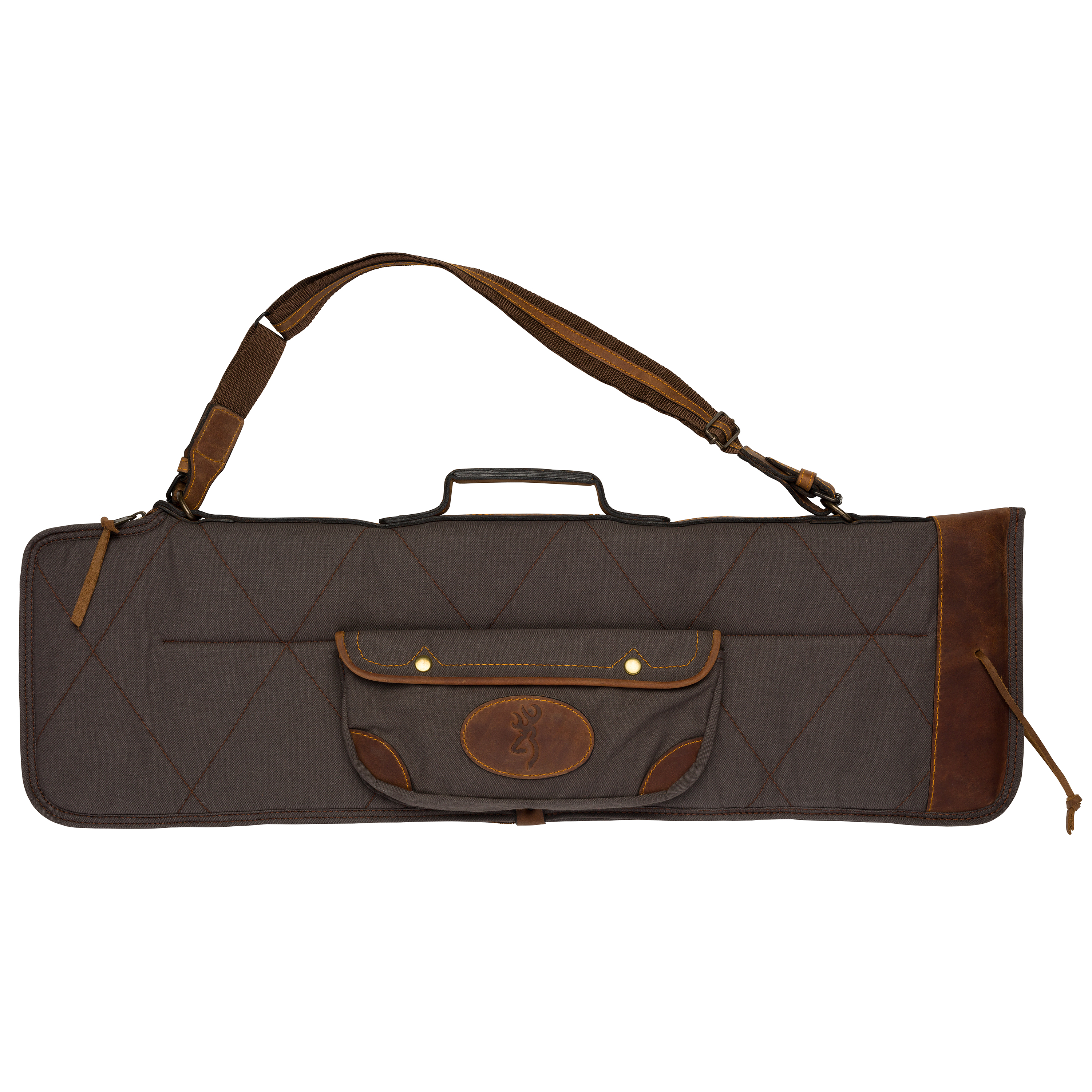 Browning Lona Canvas/Leather Over/Under Takedown Case Flint/Brown