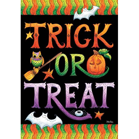 Better Homes And Gardens Halloween Treats (Halloween Trick or Treat Garden Flag Holiday Jack o'Lantern 12.5