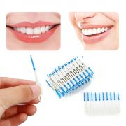 Jeobest Dual Toothpick Oral 120 Pcs Interdental Cleaning Teeth Floss Dental Gum Brush MZ