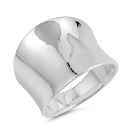 925 Sterling Silver Concave Band Ring Sterling Silver Concave Ring