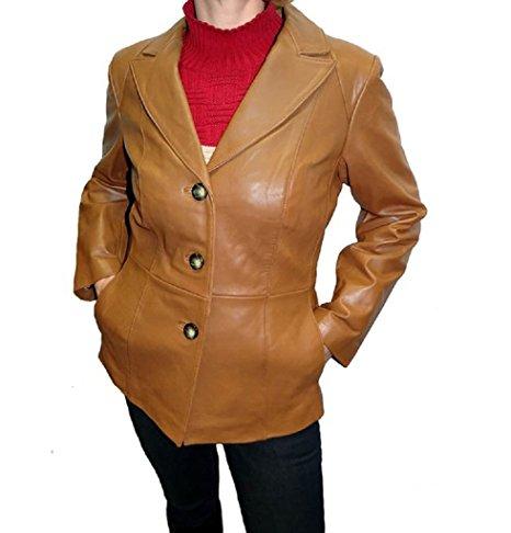 Neiman Marcus Women's Leather Blazer Jacket