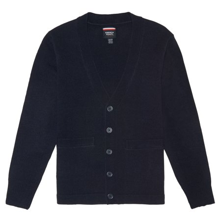 French Toast School Uniform Anti-Pill V-Neck Cardigan Sweater (Toddler Boys)
