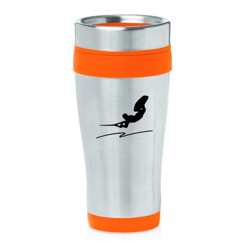 16oz Insulated Stainless Steel Travel Mug Wakeboard (Orange ) by
