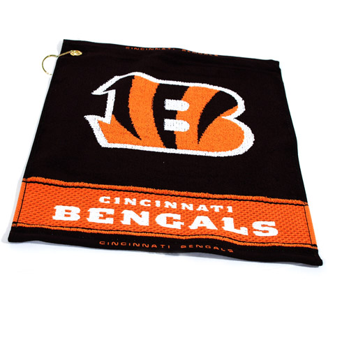 Team Golf NFL Cincinnati Bengals Jacquard Woven Golf Towel